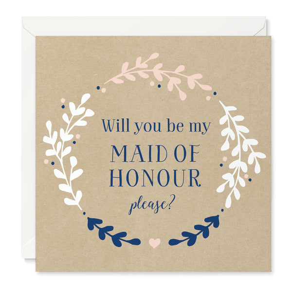 Hannah 'Will You Be My Maid of Honour' Card