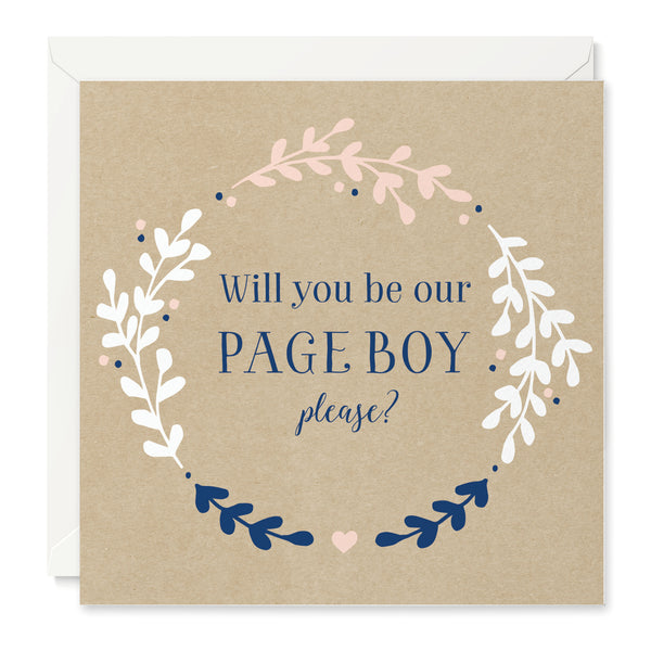Hannah 'Will You Be Our Page Boy' Card