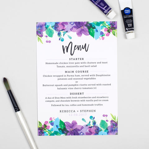 Harlow Menu Cards