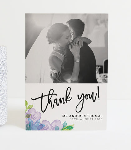 Harlow Wedding Photo Thank You Cards