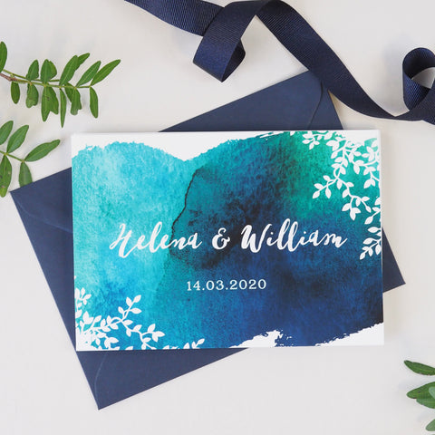 Helena concertina wedding invitation