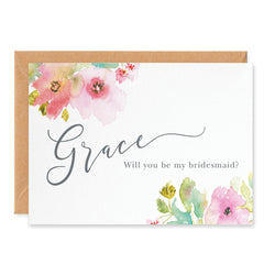 Juliette Personalised 'Will You Be My Bridesmaid?' Card