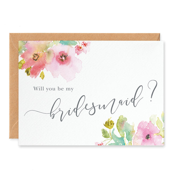 Juliette 'Will You Be My Bridesmaid?' Card