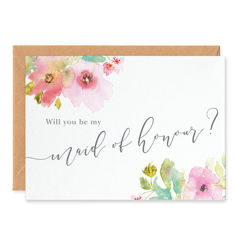 Juliette 'Will You Be My Maid of Honour?' Card