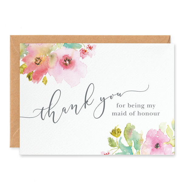 Juliette 'Thank you for being my Maid of Honour' Card