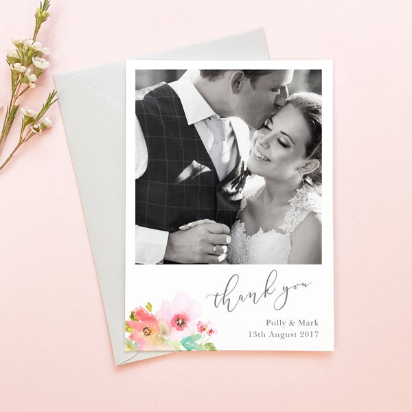 Juliette Wedding Photo Thank You Cards