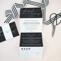 Kate concertina wedding invitation