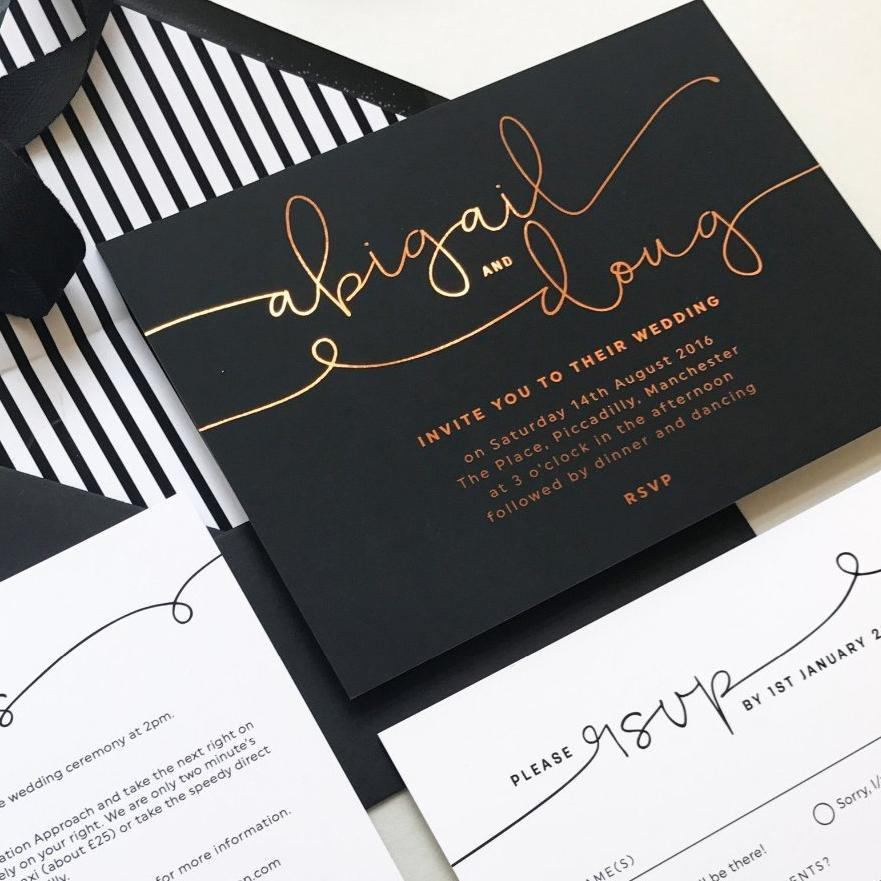 foil printed kate wedding invitations project pretty