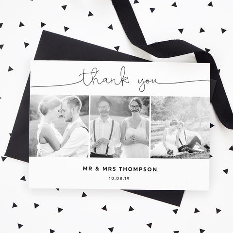Kate Collage Wedding Photo Thank You Cards