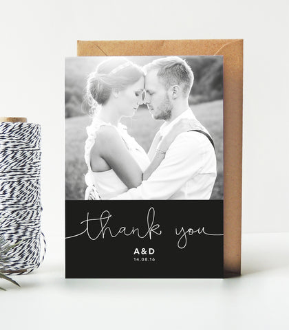 Kate Wedding Photo Thank You Cards - Project Pretty  - 1