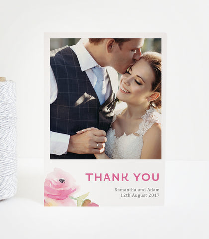 Lucy Wedding Photo Thank You Cards
