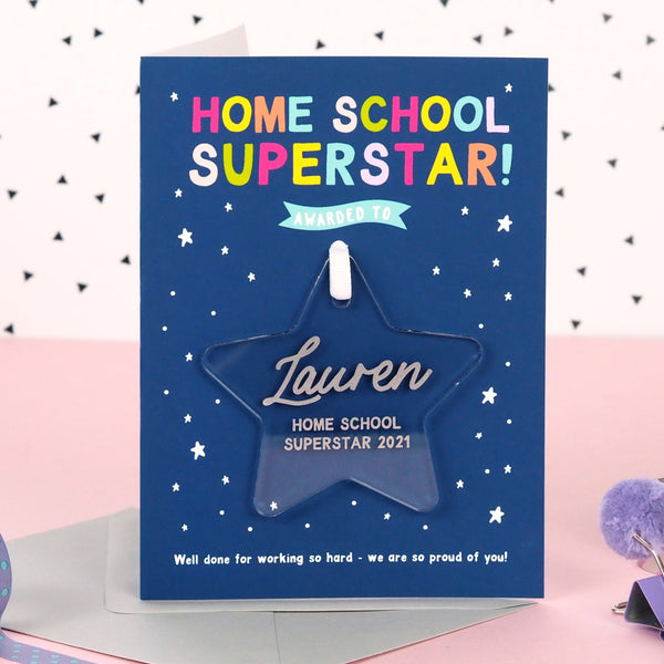 Home School Superstar award card