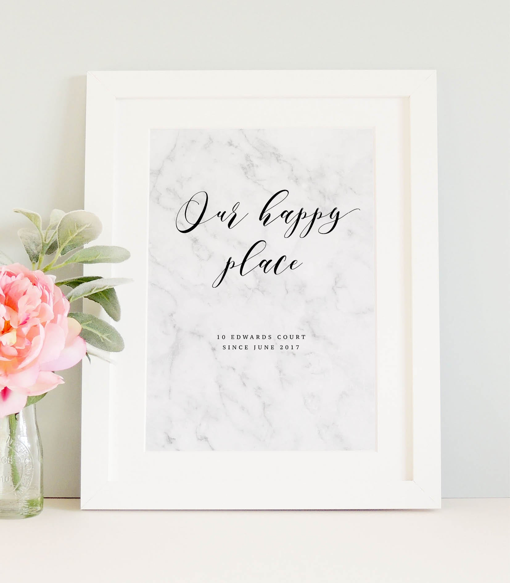 Personalised 'Our happy place' Print