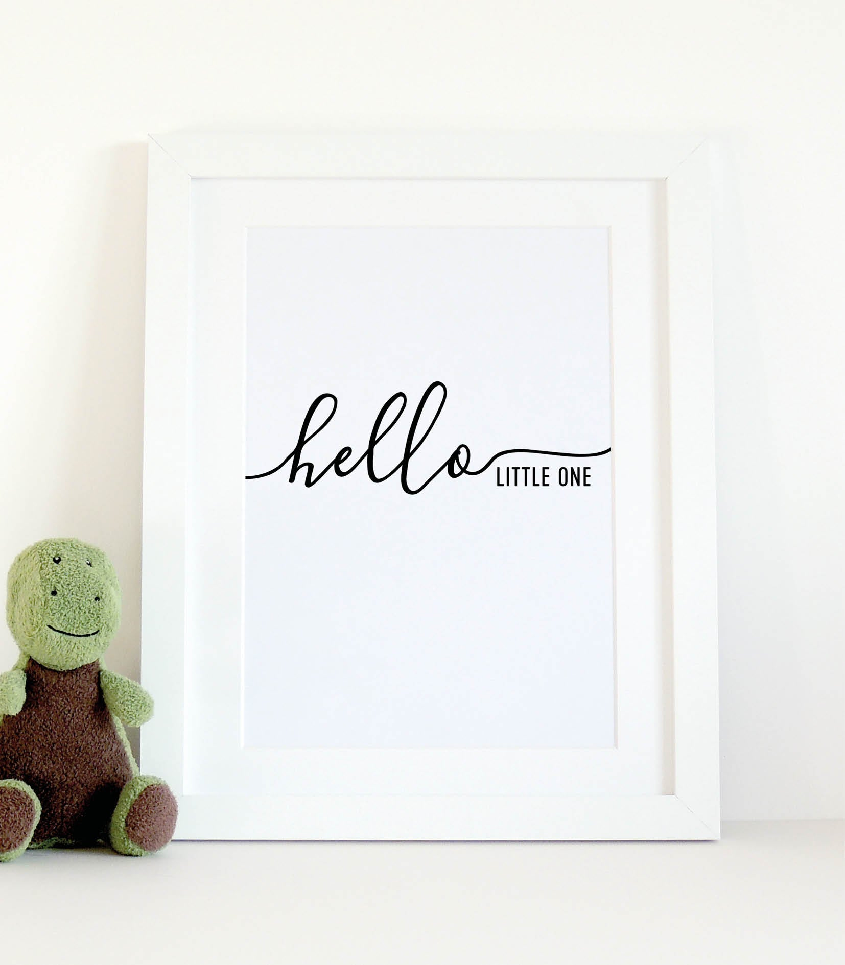 'Hello little one' typographical print