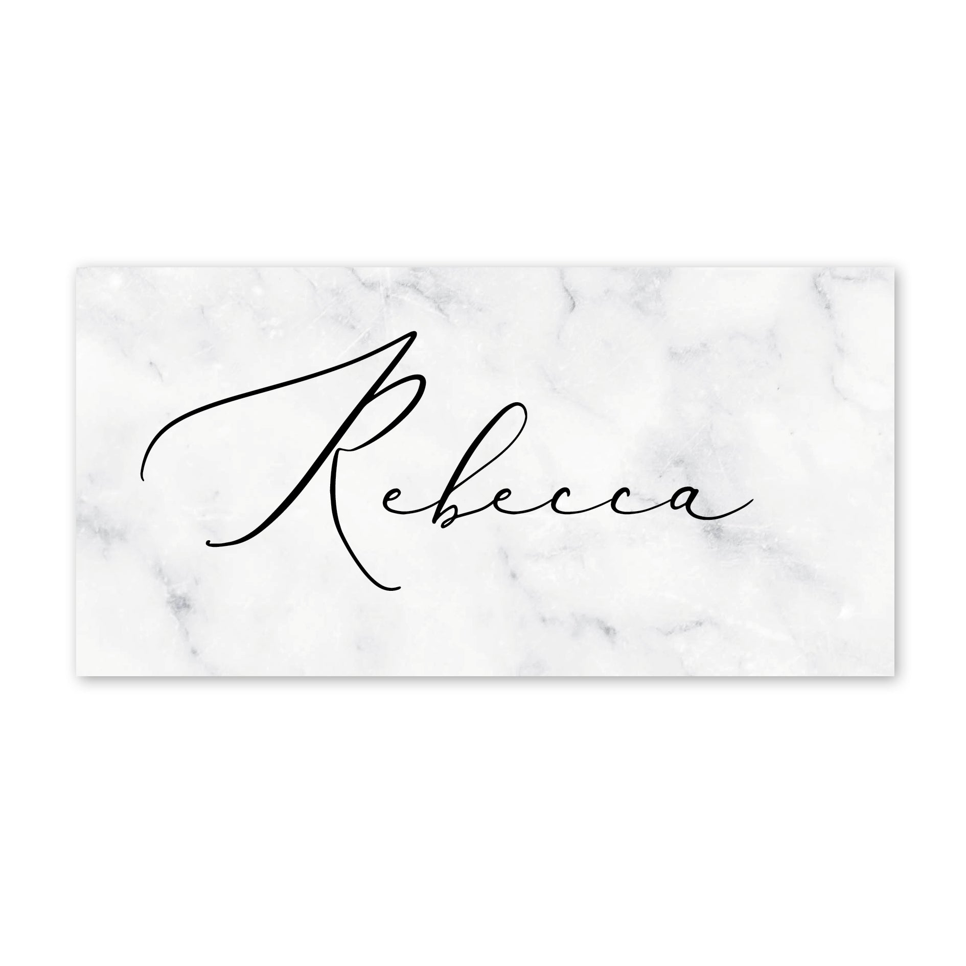 Monochrome Marble Place Cards