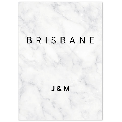 Monochrome Marble table names
