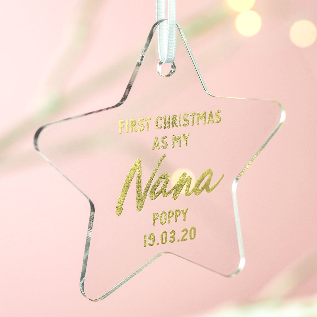 Star First Christmas as my Nana Christmas Decoration