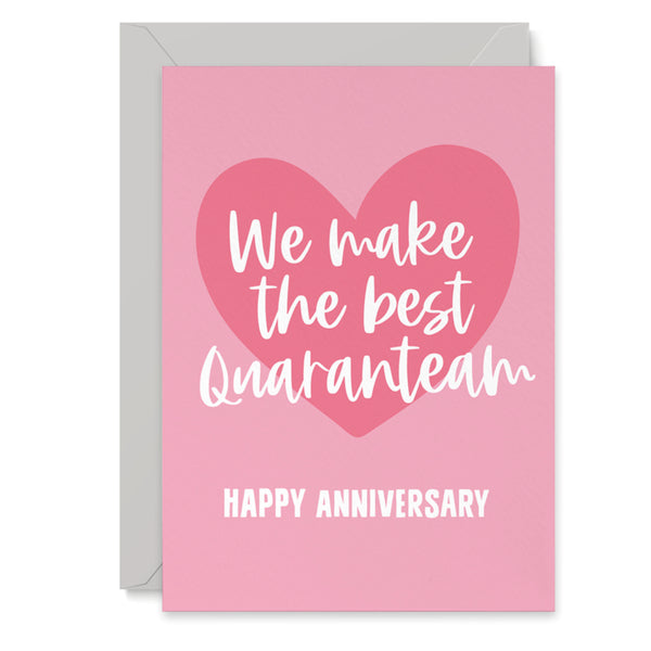 Quaranteam Wedding Anniversary Card