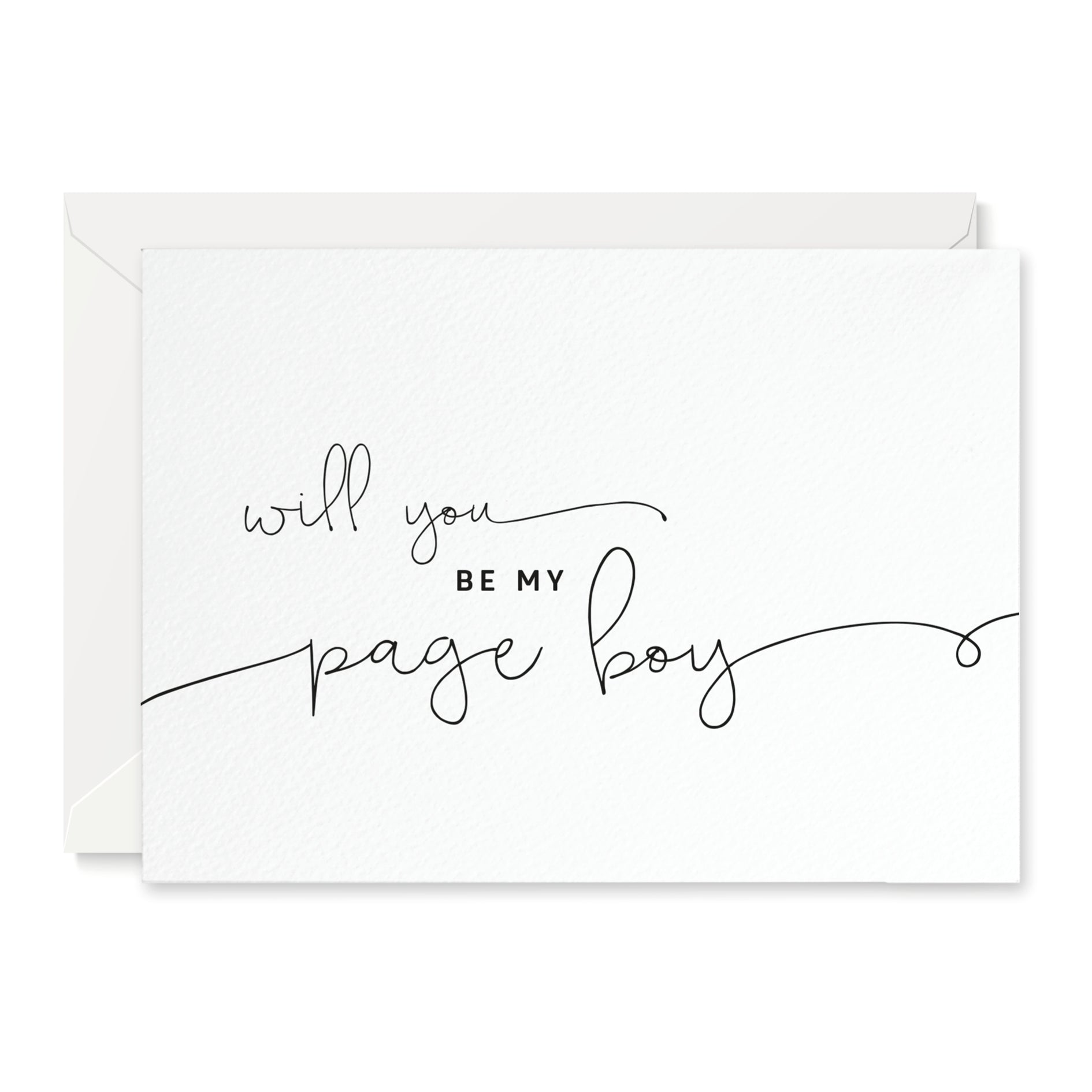 Kate 'Will You Be My Page Boy' Card