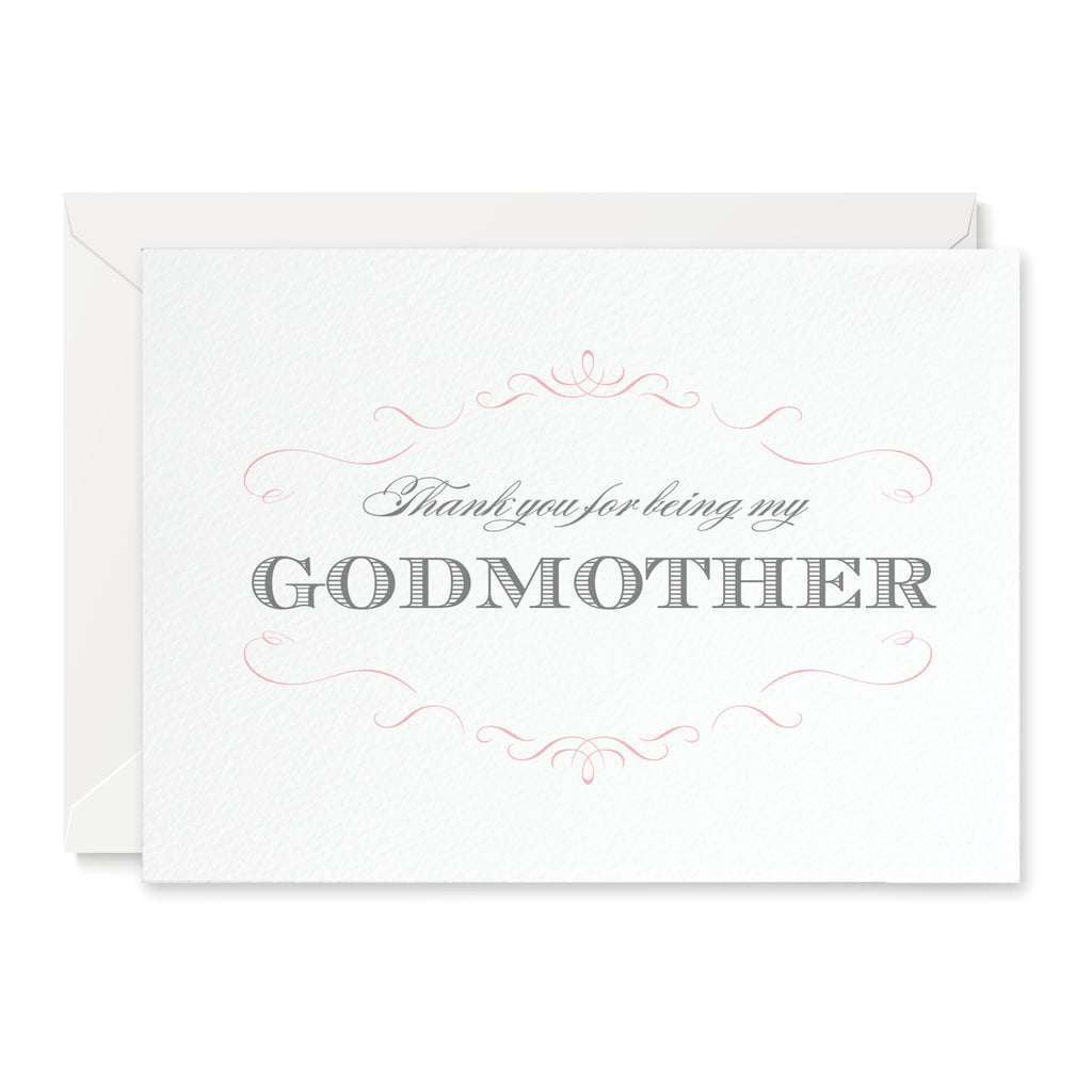 Olivia 'Thank you for being my Godmother' Card