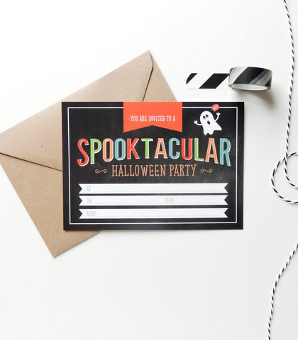 Pack Of 10 Halloween Party Invitations - Project Pretty  - 1