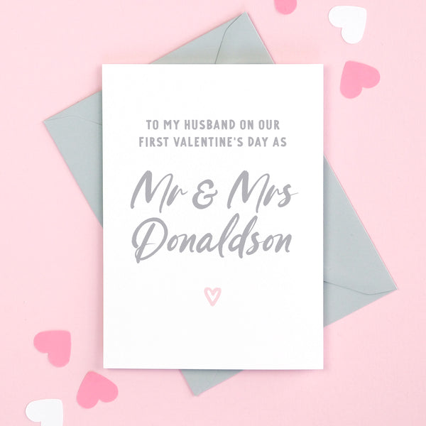 Personalised Husband On Our First Valentine's Day married