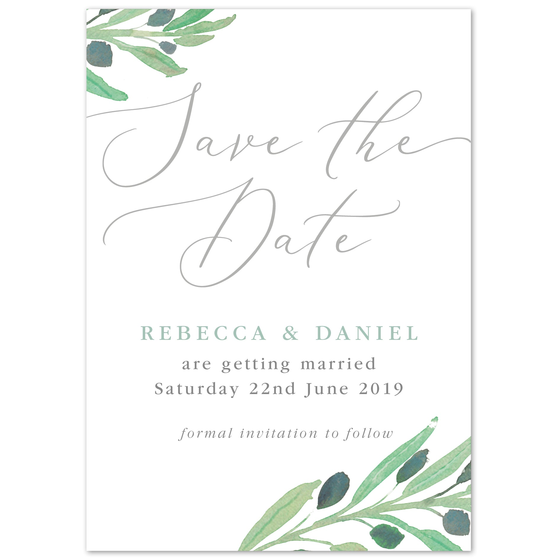 Olive Save The Date