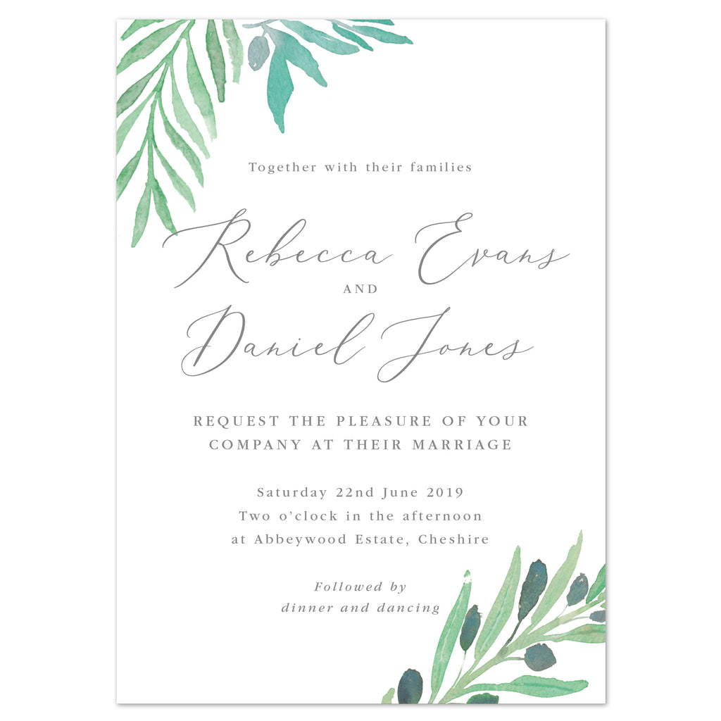 Olive Wedding Invitation