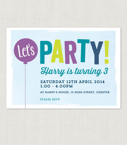 Let's Party! Birthday invitation - Project Pretty  - 2