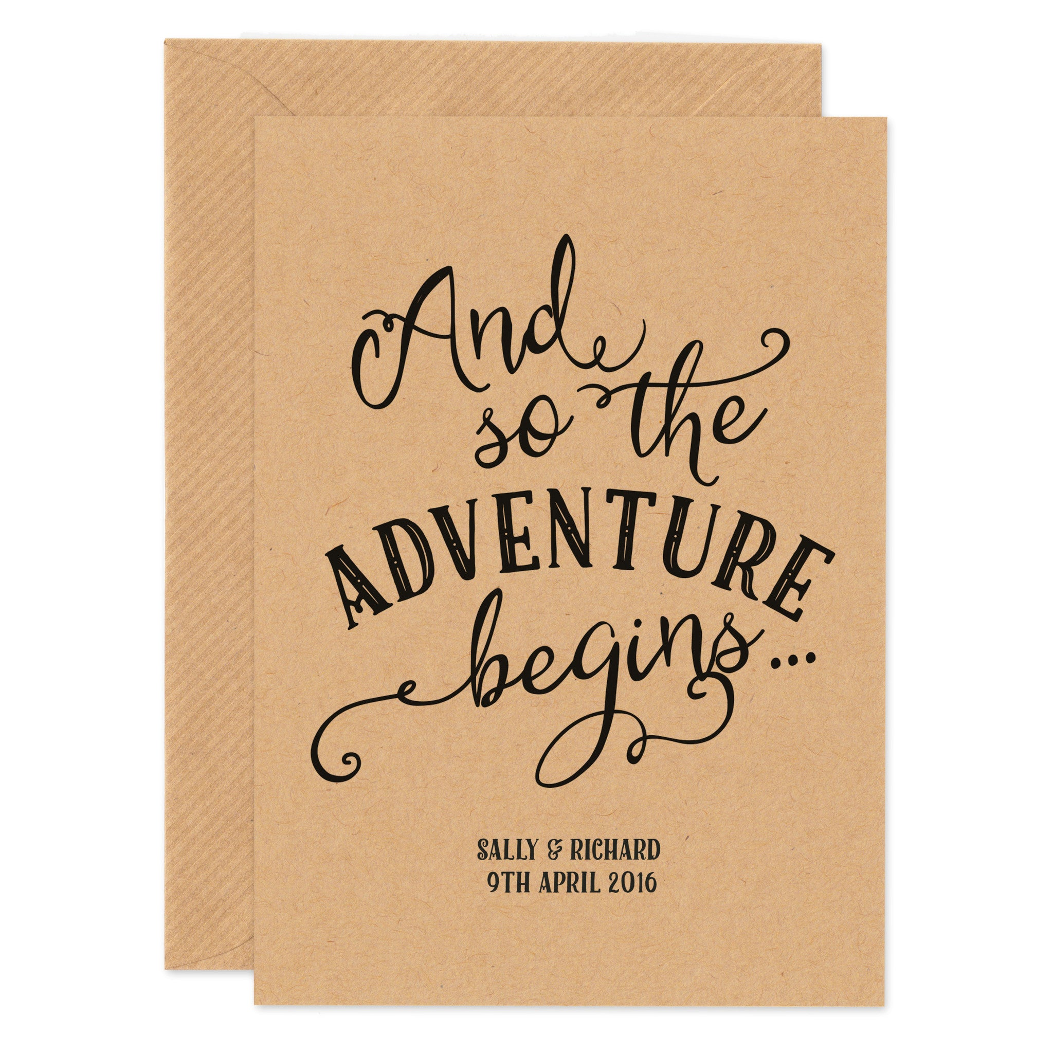 Personalised 'Adventure' Wedding Card - Project Pretty