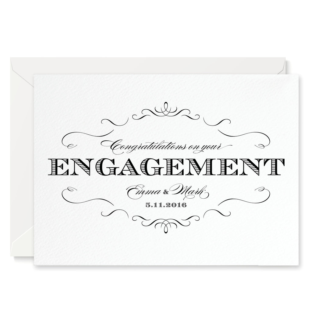 Olivia Personalised Engagement Congratulations Card - Project Pretty