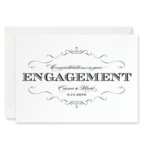Olivia Personalised Engagement Congratulations Card