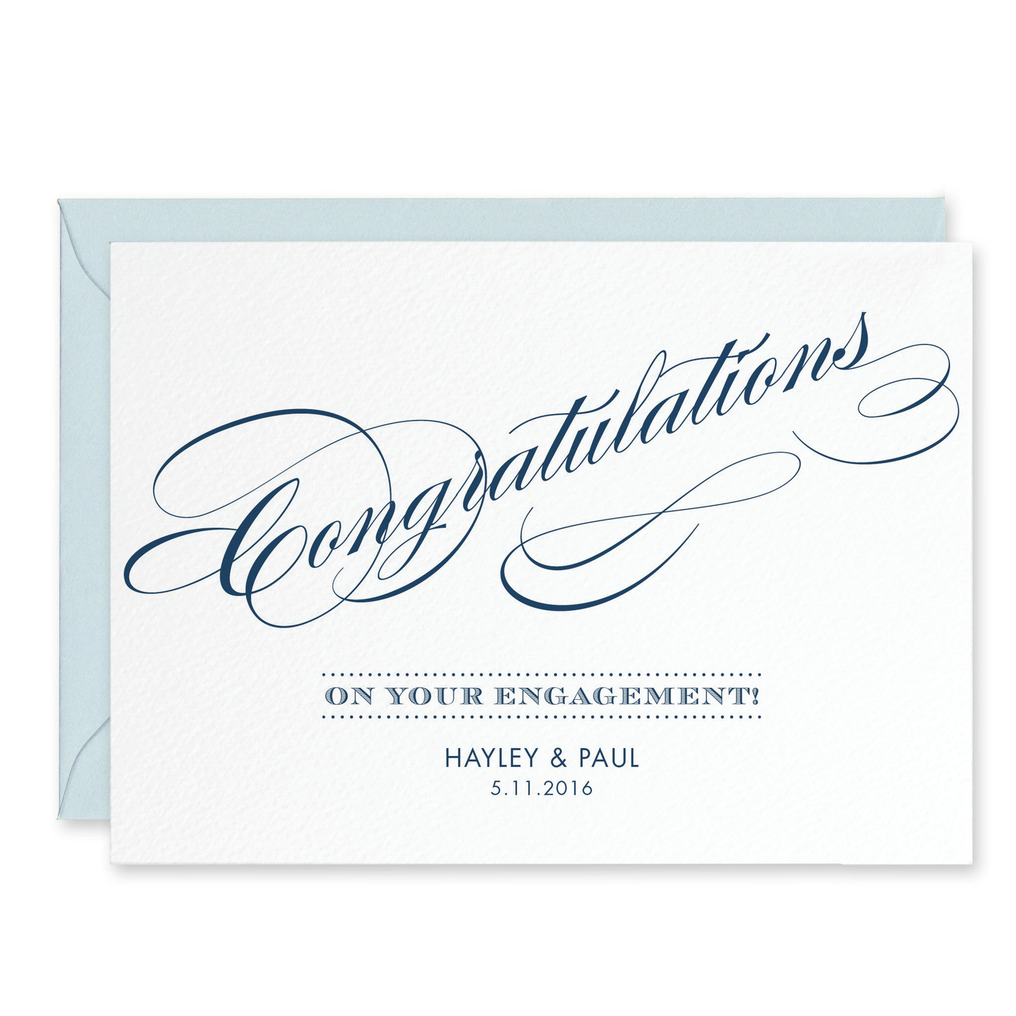 Script Personalised Engagement Congratulations Card Project Pretty