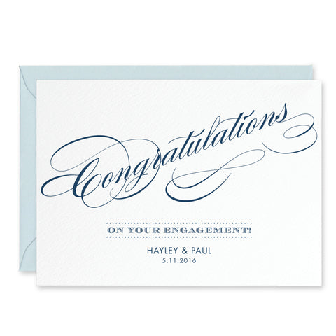 Script Personalised Engagement Congratulations Card - Project Pretty