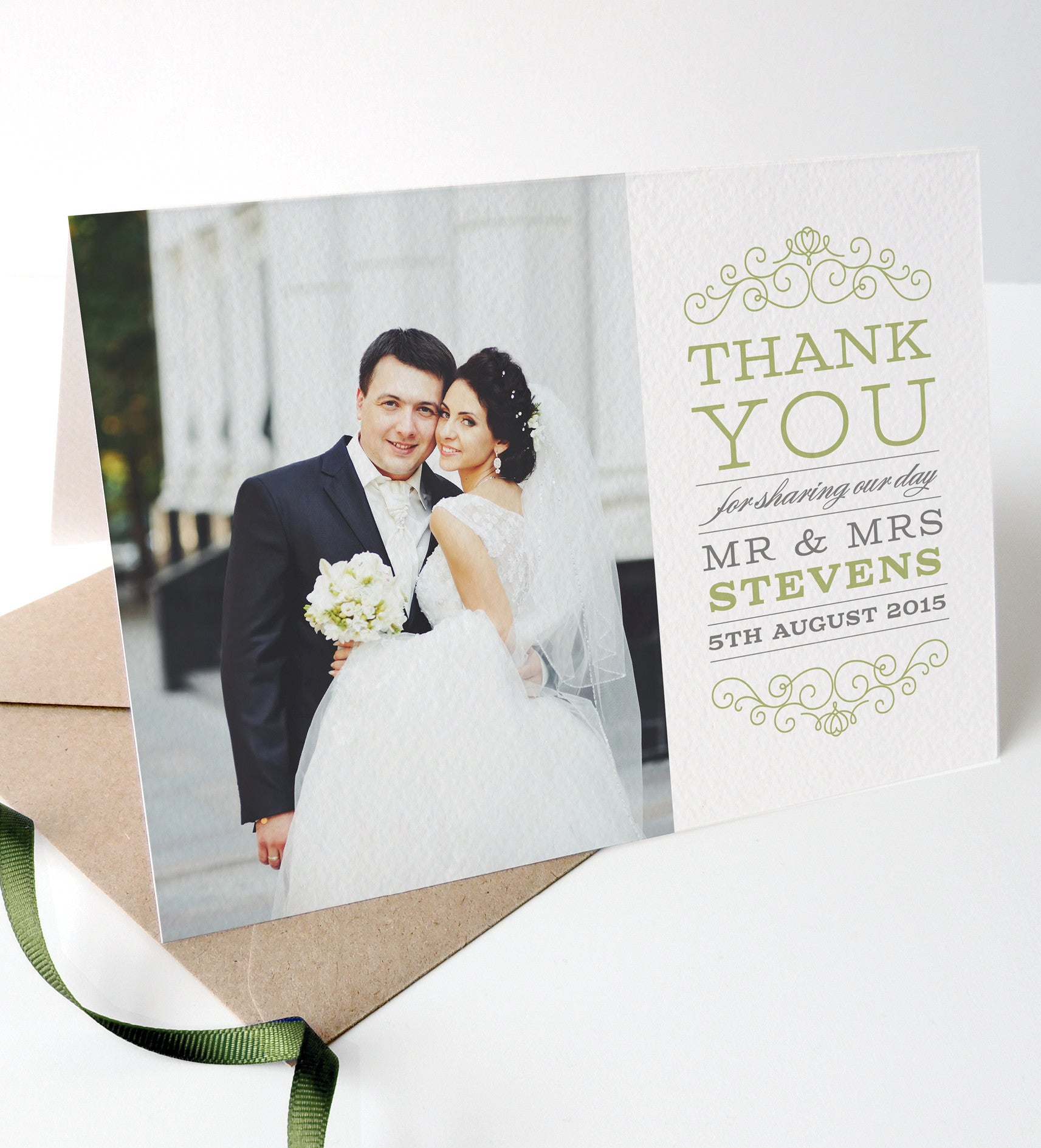 Eva Wedding Photo Thank You Cards - Project Pretty  - 1