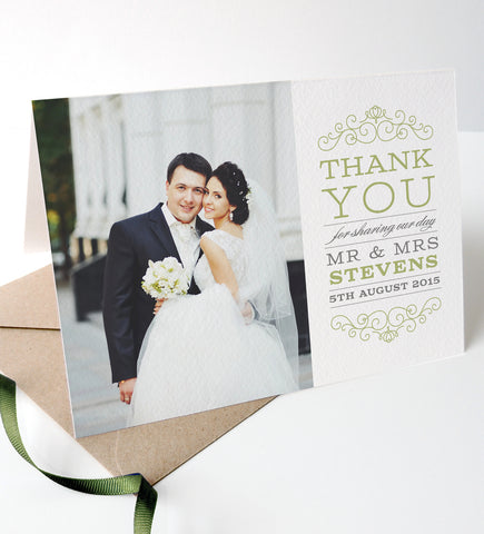 Eva Wedding Photo Thank You Cards