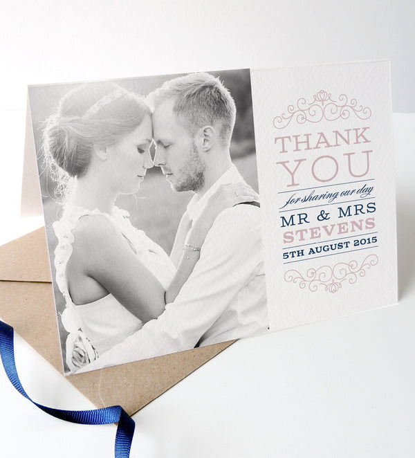 Eva Wedding Photo Thank You Cards - Project Pretty  - 2