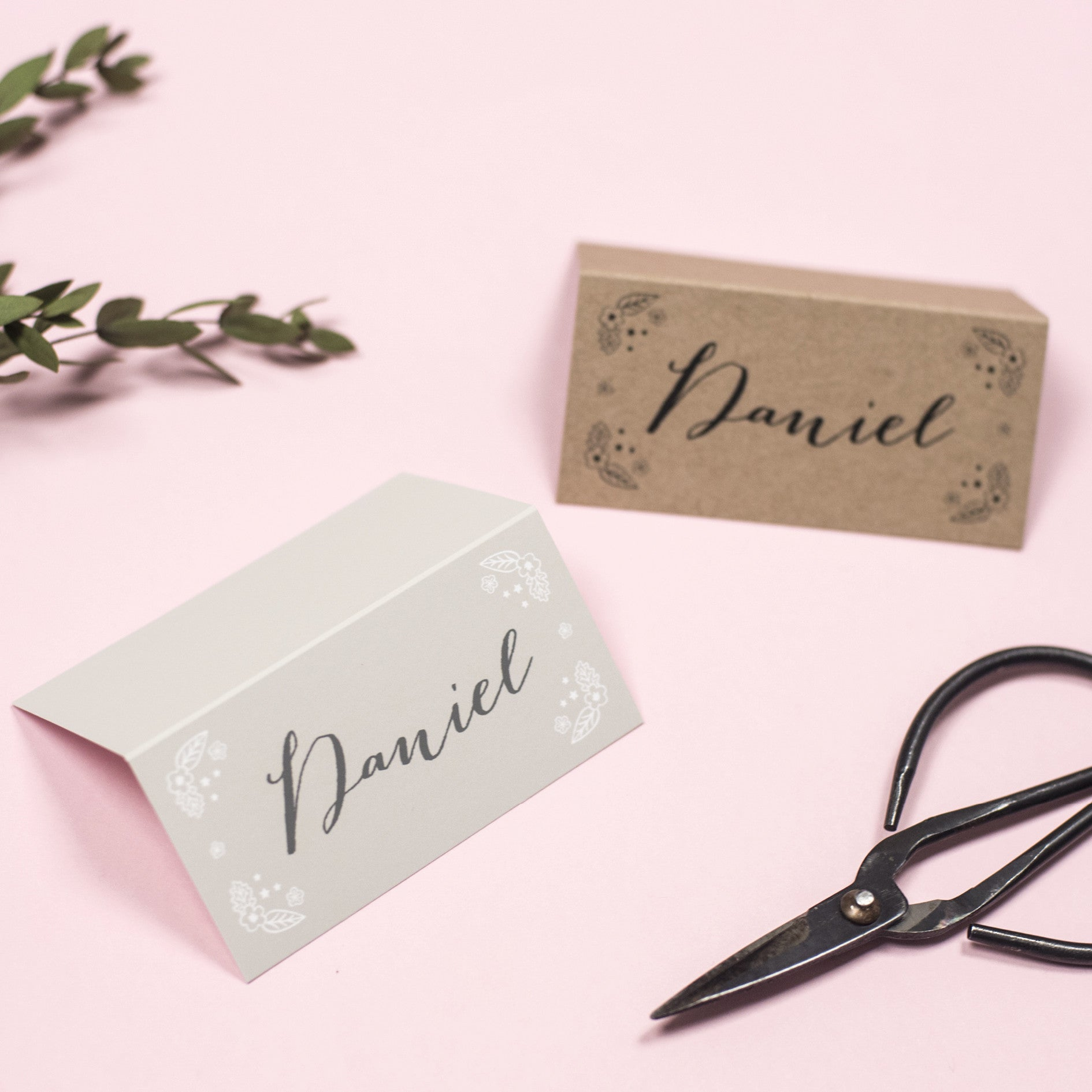 Enchanted Forest Kraft Place Cards