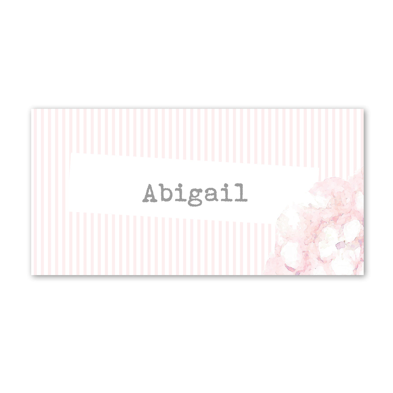 Hydrangea Pink Place Cards
