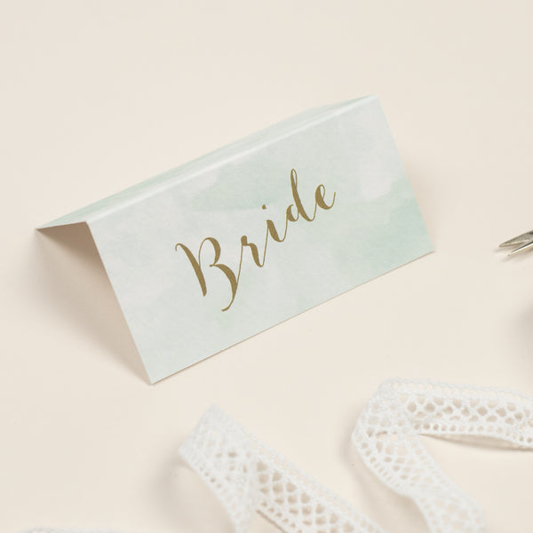 Mint Romance Place Cards