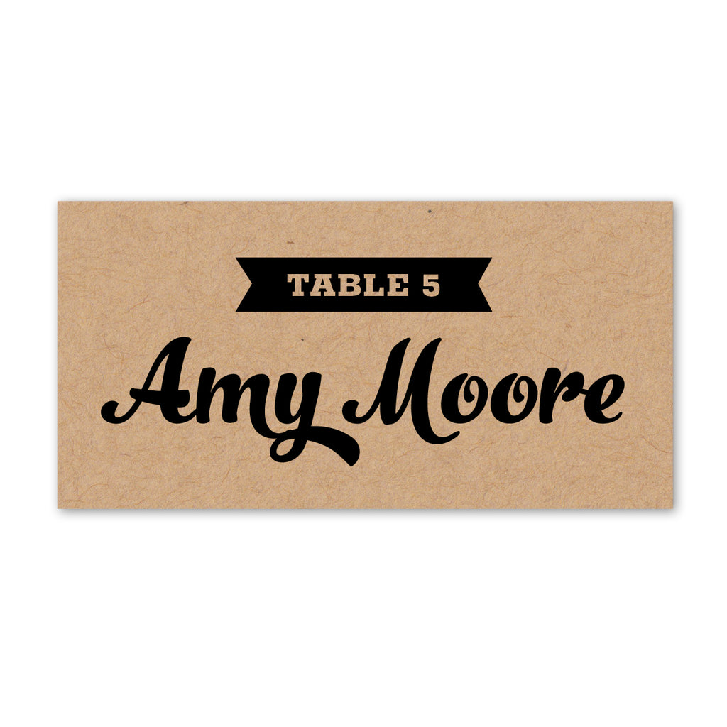 Retro Vintage Kraft Place Cards