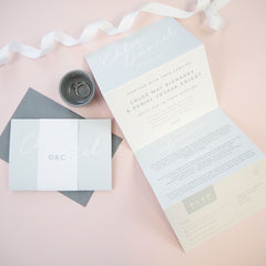 Rachel concertina wedding invitation