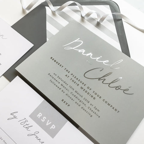 Rachel foil printed Wedding Invitations