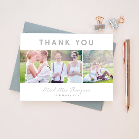 Rachel Collage Wedding Photo Thank You Cards