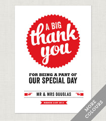 Retro Vintage Thank You Card - Project Pretty  - 1