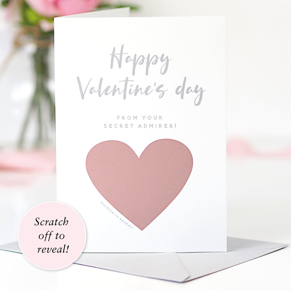 Scratch off Secret Admirer Personalised Valentine's Day Card