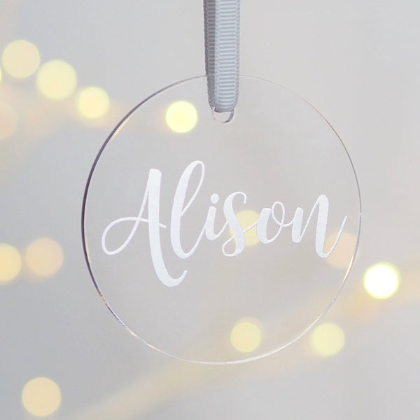 Personalised Foil Printed Acrylic Christmas Decoration