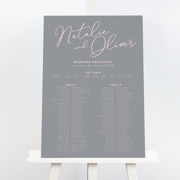 Natalie Table Plan