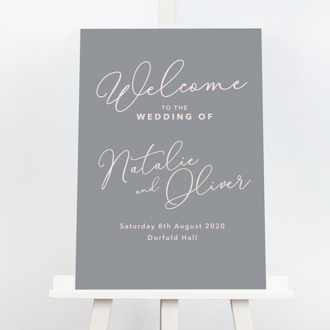 Natalie welcome sign