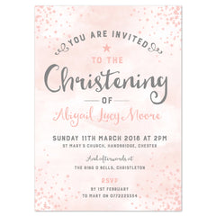 Star Christening/baptism invitation